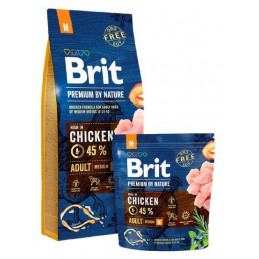 Brit Premium By Nature Adult M Medium CHICKEN 15kg + GRATIS