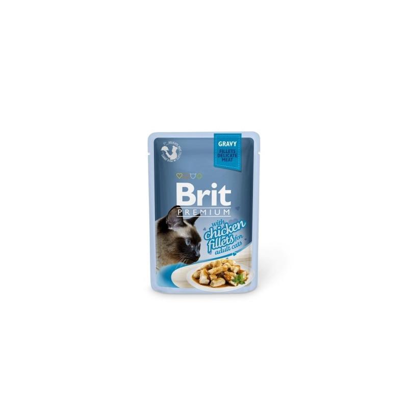 BRIT POUCH GRAVY FILLETS WITH CHICKEN 85 g