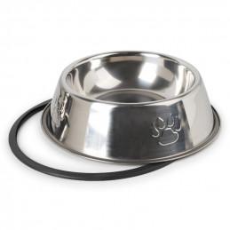 PETSTORY Miska Metalowa S dla Psa Kota na Gumie  300 ml