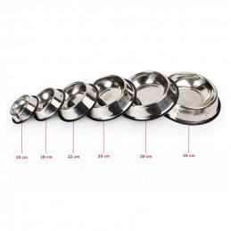 PETSTORY Miska Metalowa L dla Psa na Gumie 1L