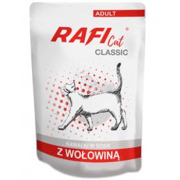 DOLINA NOTECI RAFI CAT Classic z Wołowiną Zestaw Saszetki 28 x 85g