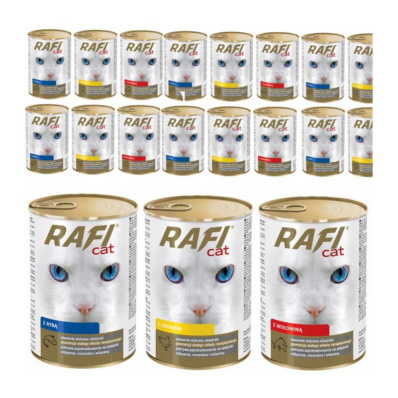RAFI CAT Dolina Noteci MIX SMAKÓW Zestaw Puszki 24 x 415g