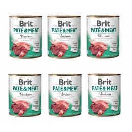 Brit Pate&Meat Venison DZICZYZNA Zestaw 6 x 800g