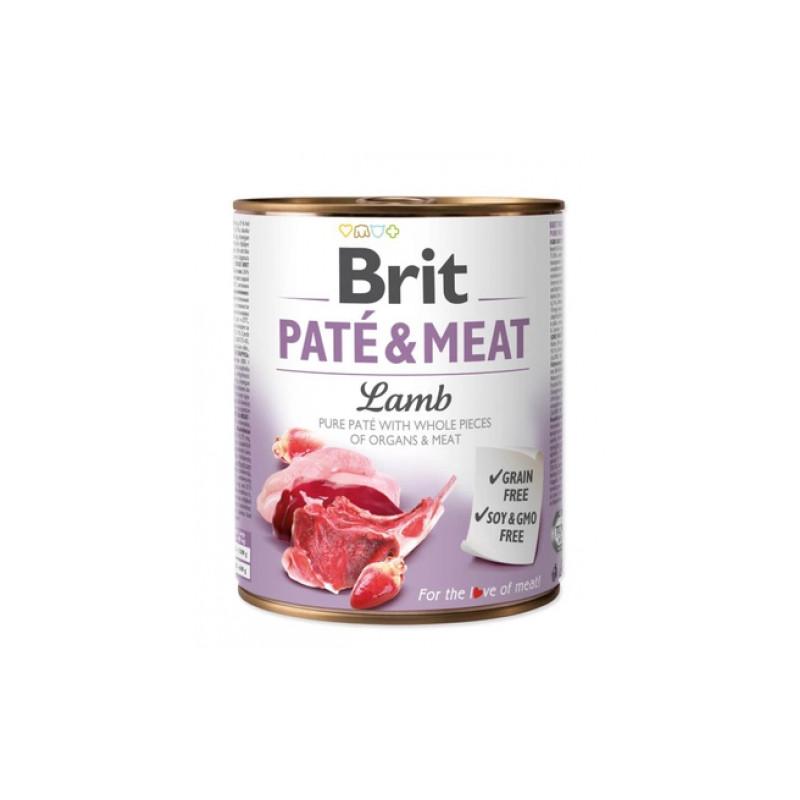 Brit Pate & Meat Dog Lamb JAGNIĘCINA 800g