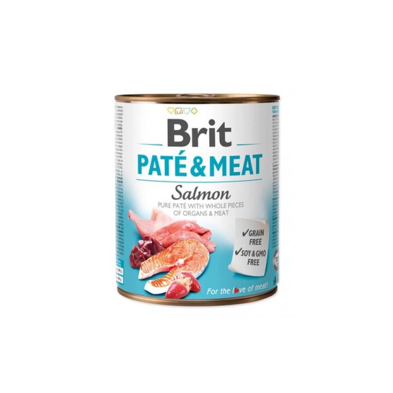 Brit Pate & Meat Dog Salmon ŁOSOŚ 800g