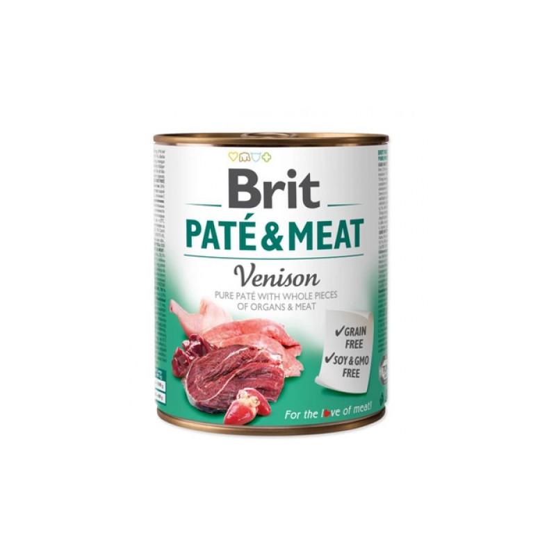Brit Pate & Meat Dog Venison DZICZYZNA 800g