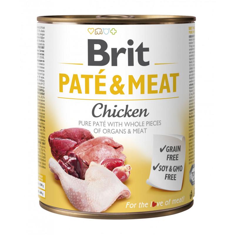 Brit Pate & Meat Dog Chicken KURCZAK 800g