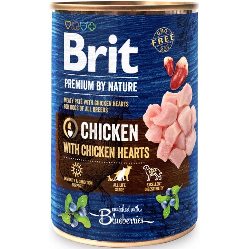 Brit Premium By Nature Chicken & Hearts KURCZAK 400g