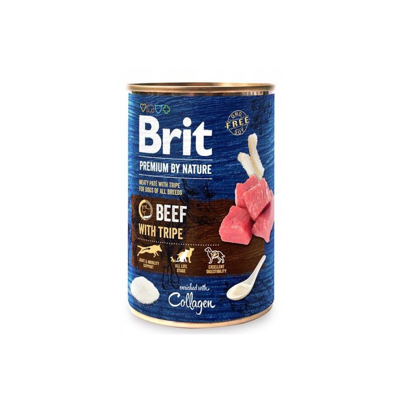 Brit Premium By Nature Beef & Tripe WOŁOWINA 400g