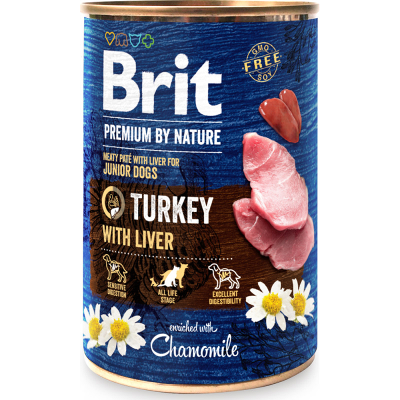 Brit Premium By Nature JUNIOR Turkey & Liver INDYK 400g