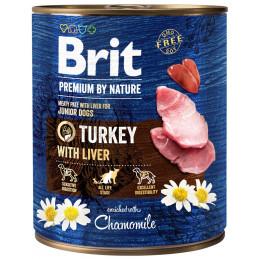 Brit Premium By Nature JUNIOR Turkey & Liver INDYK 800g