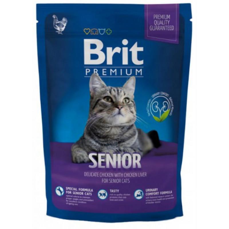 Brit Premium Cat Senior KURCZAK 800 g