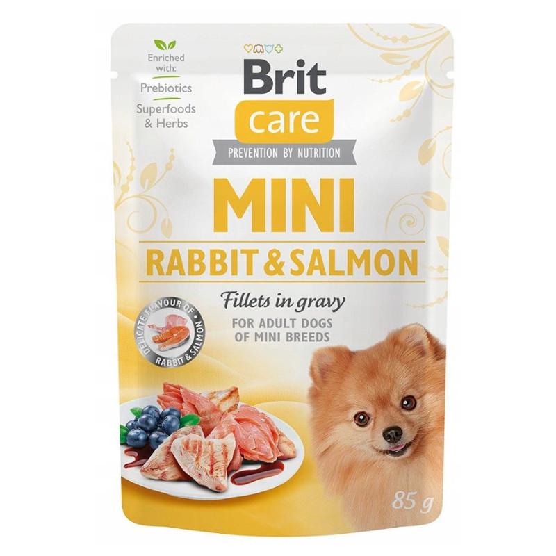 Brit Care Mini Rabbit Salmon KRÓLIK I ŁOSOŚ 85g