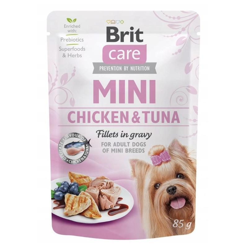Brit Care Mini Chicken Tuna Fillets in Gravy KURCZAK TUŃCZYK 85g