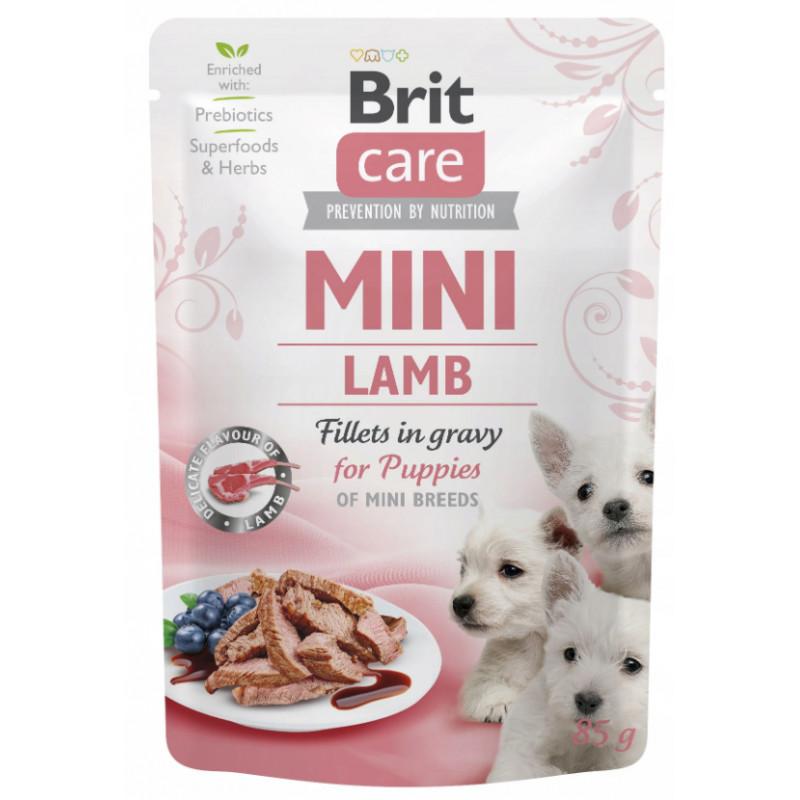 Brit Care Mini PUPPY Lamb Fillets in Gravy JAGNIĘCINA 85g