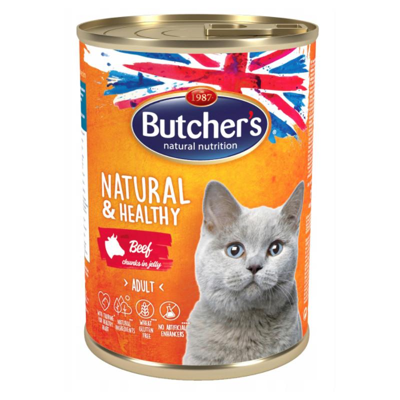 Butcher's Kot Natural & Healthy WOŁOWINA 400g