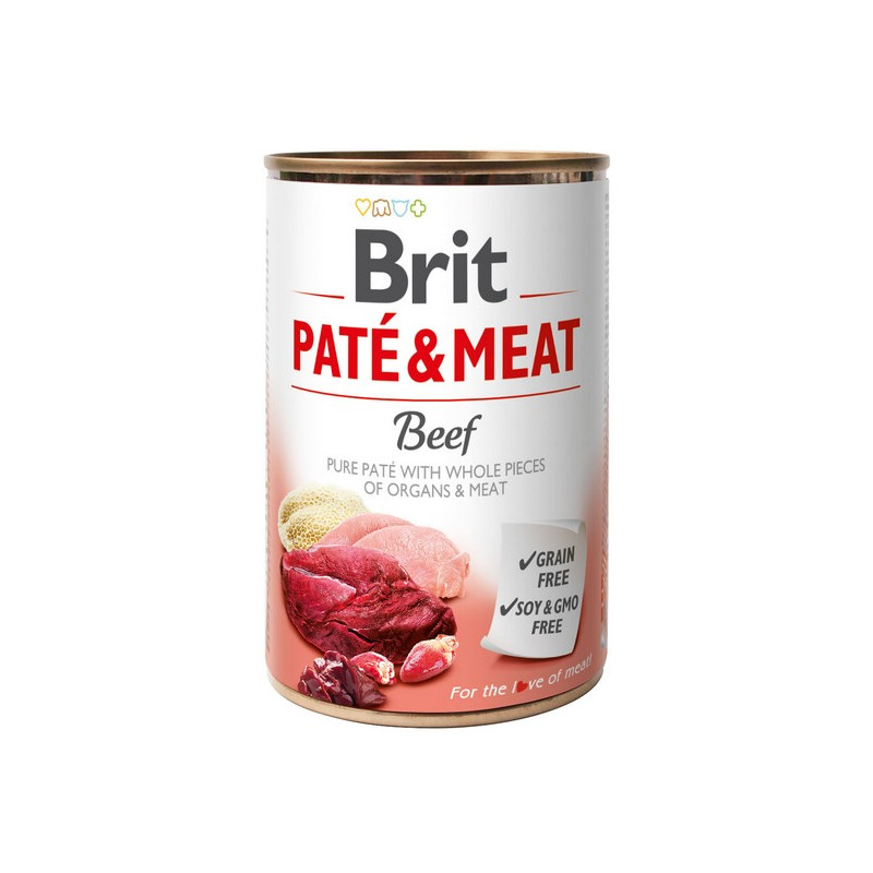 Brit Pate & Meat Dog Beef WOŁOWINA 400g