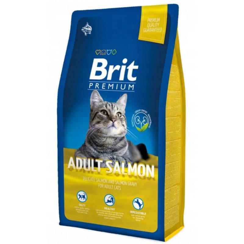 Brit Premium Cat Adult Salmon ŁOSOŚ 1,5 kg