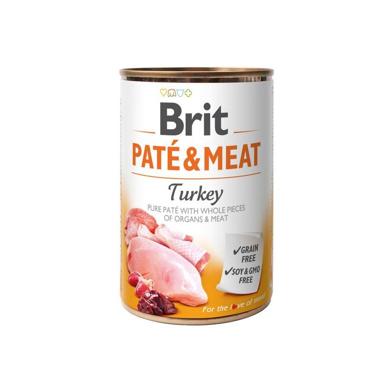 Brit Pate & Meat Dog Turkey INDYK 400g