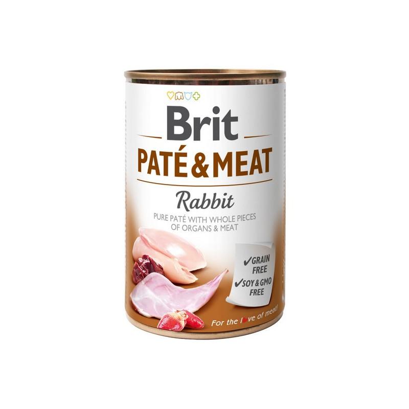 Brit Pate & Meat Dog Rabbit KRÓLIK 400g