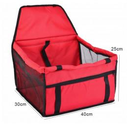Transporter Fotelik dla Psa lub Kota do Samochodu PETSTORY (Czerwony)