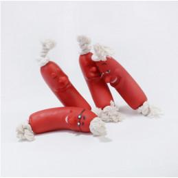 Kiełbasa Winylowa na Sznurze Zabawka dla Psa 11cm PETSTORY