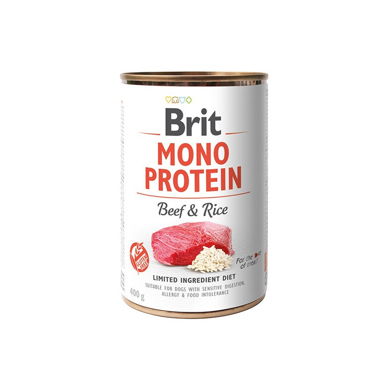 Brit Mono Protein Beef & Rice WOŁOWINA 400g