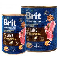 Brit Premium By Nature Lamb & Buckwheat JAGNIĘCINA 400g