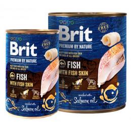 Brit Premium By Nature Fish & Fish Skin RYBY 800g