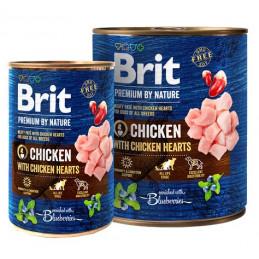 Brit Premium By Nature Chicken & Hearts KURCZAK 800g