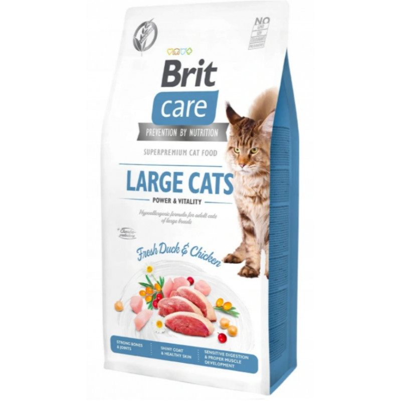 BRIT CARE CAT Grain-free Large Cats DUŻE KOTY 7 kg