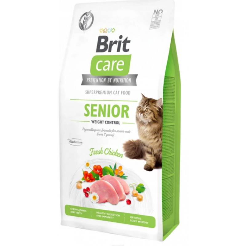 BRIT CARE CAT Grain-Free SENIOR Weight Control 7 kg