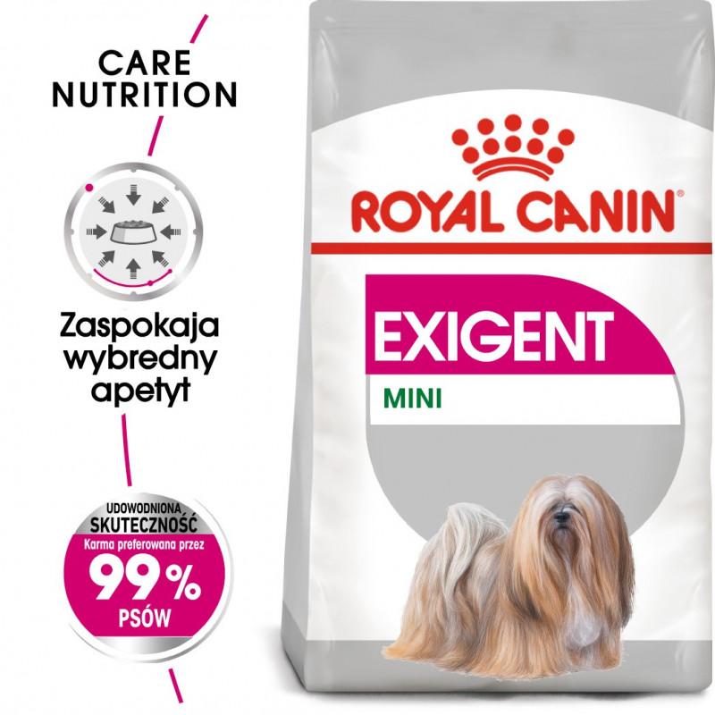 Royal Canin Care Nutrition Exigent Mini - Karma Sucha dla Psów Ras Małych, Wybrednych 3kg