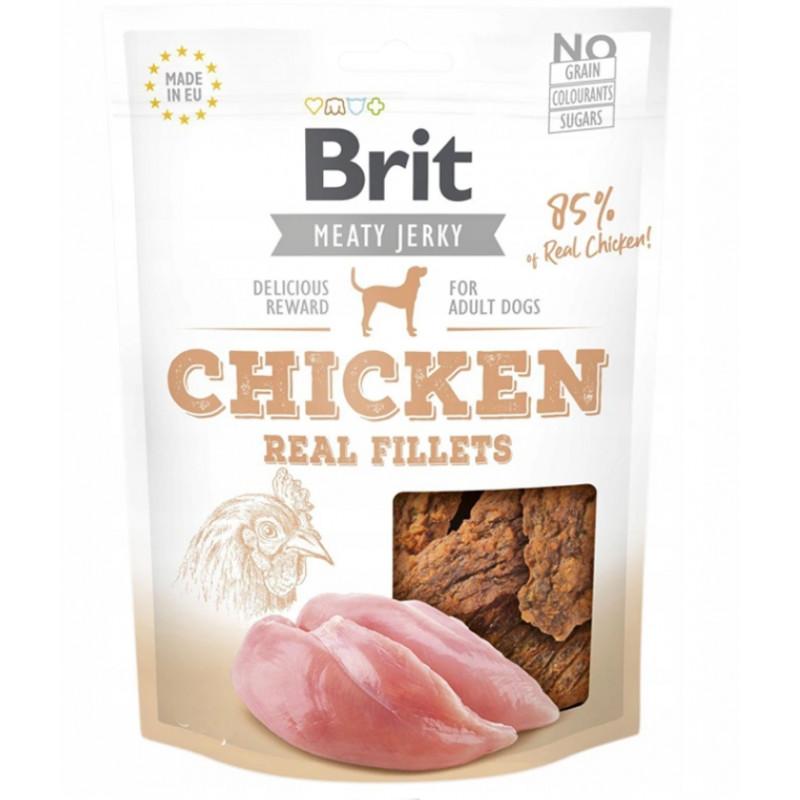 BRIT MEATY JERKY Chicken Real Fillets SUSZONY FILET 200g