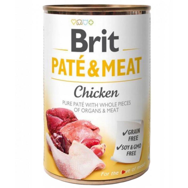 Brit Pate & Meat Dog Chicken KURCZAK 400g