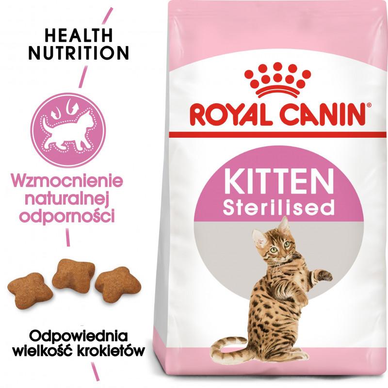 Royal Canin Instictive Kitten Sterilised- Karma Sucha dla Kociąt Sterylizowanych od 6 do 12 Miesiąca Życia 400g