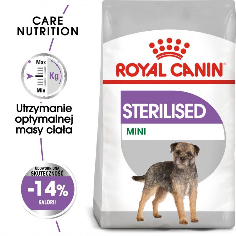 Royal Canin Care Nutrition Mini Sterilised - Karma Sucha Pies Sterylizowany, Rasy Małe 3kg