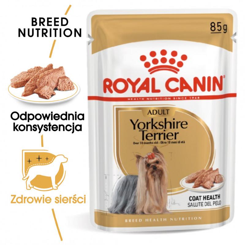 Royal Canin Yorkshire Terrier Adult - Karma Mokra (Pasztet), Psy Dorosłe Rasy Yorkshire Terrier 85g