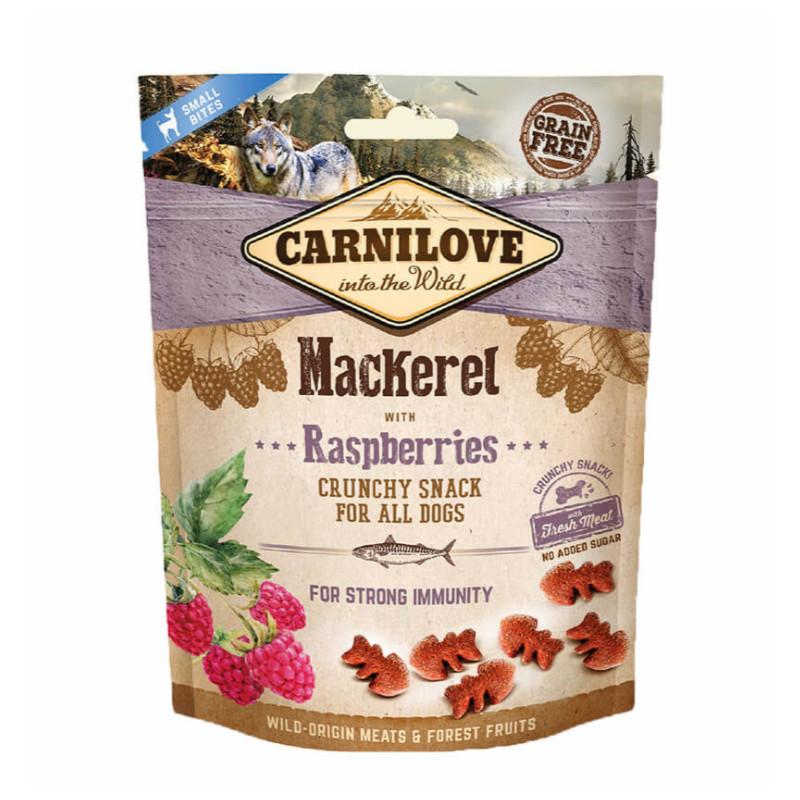Carnilove Crunchy Snack MAKRELA Z MALINAMI 200g