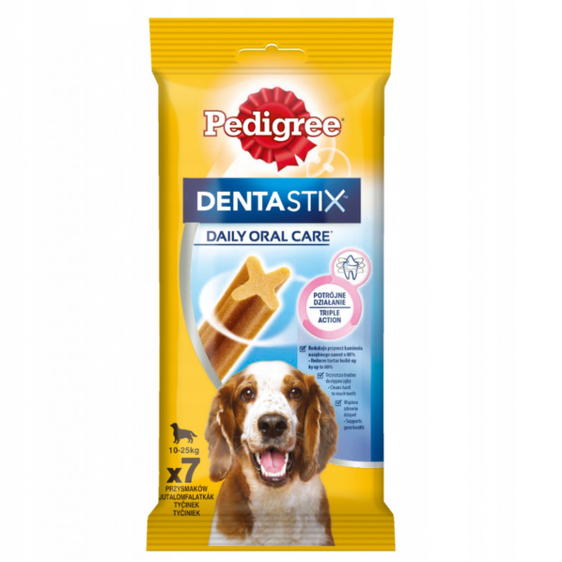 PEDIGREE DENTASTIX Gryzaki Dentystyczne RASY ŚREDNIE 180g (7szt.)
