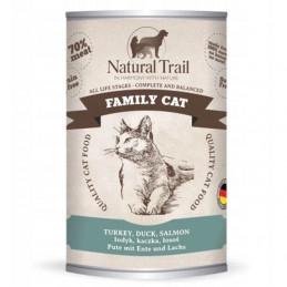 NATURAL TRAIL Family Cat INDYK KACZKA ŁOSOŚ Zestaw 6x 400g