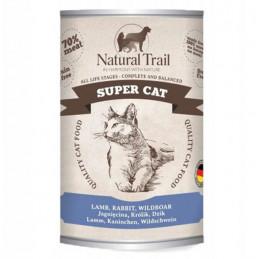 NATURAL TRAIL Super Cat JAGNIĘCINA KRÓLIK DZIK Zestaw 6x 400g