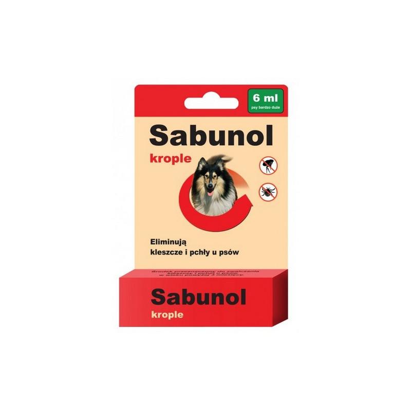 SABUNOL - Krople Przeciw Pchłom i Kleszczom dla Psa 6ml