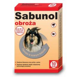 SABUNOL GPI - Obroża Przeciw Pchłom dla Psa Szara 50cm