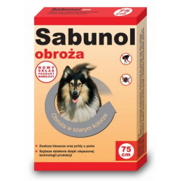 SABUNOL GPI - Obroża Przeciw Pchłom dla Psa SZARA 75cm