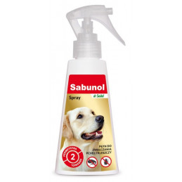 SABUNOL - Spray Przeciw Pchłom i Kleszczom dla Psa 100ml