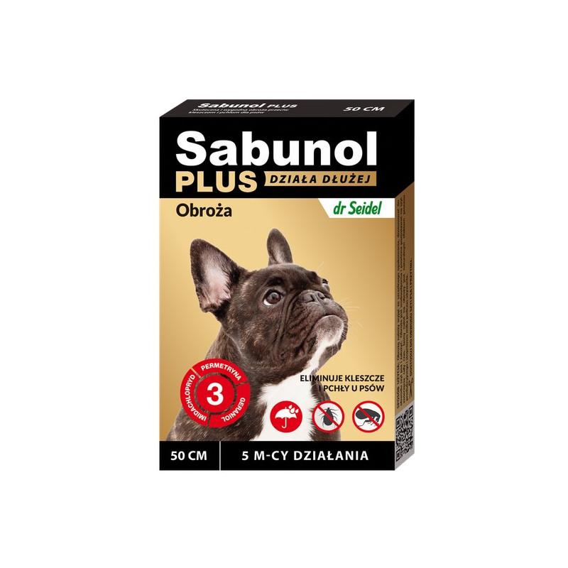 SABUNOL PLUS - Obroża Przeciw Pchłom i Kleszczom dla Psa 50cm