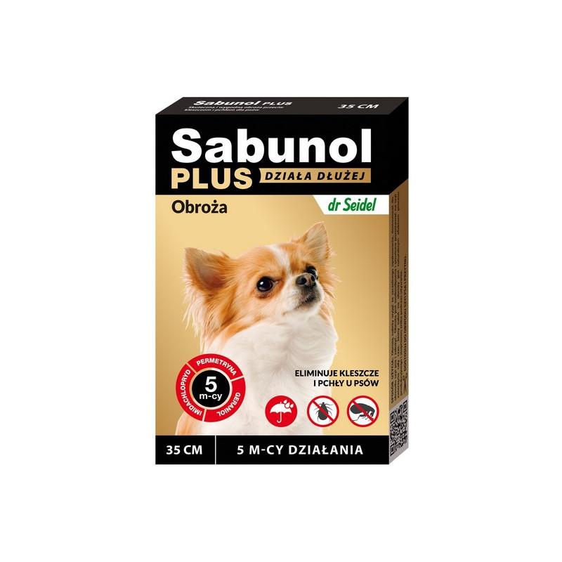 SABUNOL PLUS - Obroża Przeciw Pchłom dla Psa 35cm