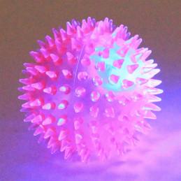 PIŁKA Gryzak z Kolcami Świecący LED 5cm PETSTORY