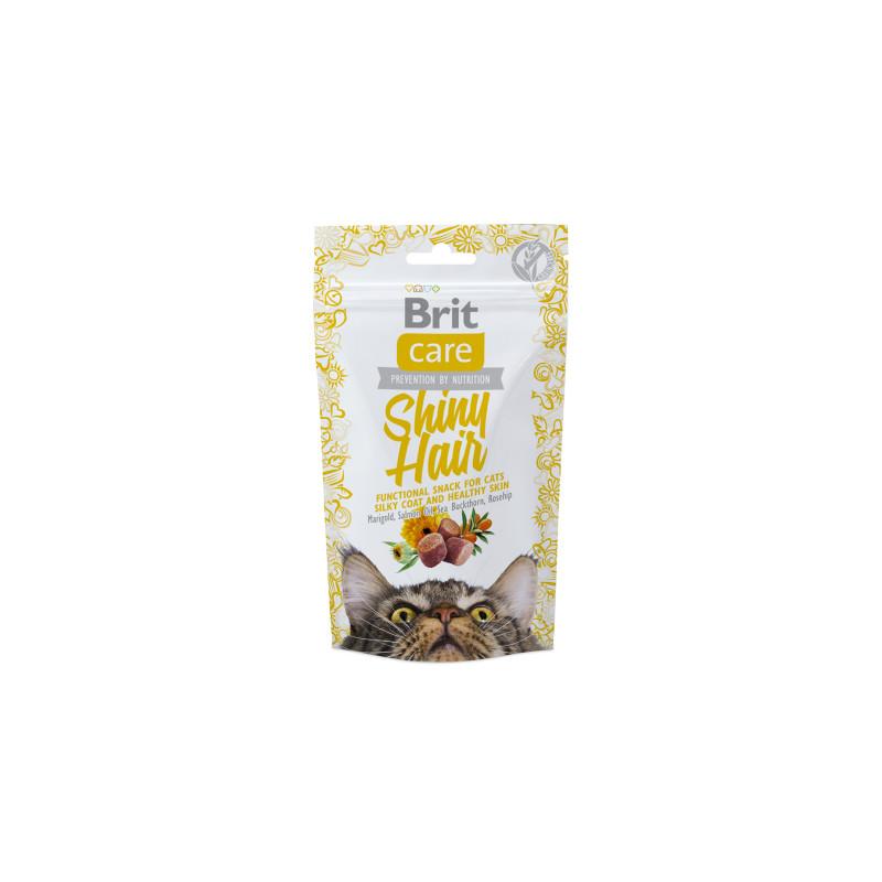Brit Care Cat Przysmak Snack Shiny Hair PIĘKNA SIERŚĆ 50g